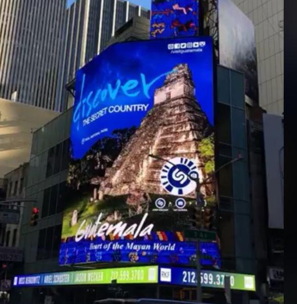 Tikal es otro de los sitios turísticos que se promociona en Nueva York. (Foto Prensa Libre: Facebook)