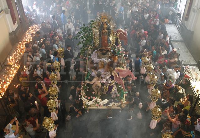 En Guatemala se realiza la procesión de la Guadalupana cada 12 de diciembre. (Foto: Hemeroteca PL)