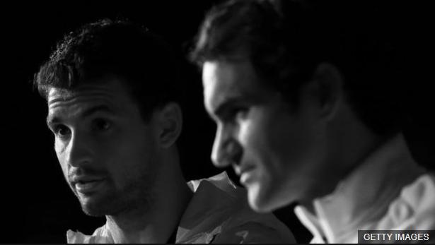 La sombra de Federer ha condicionado la carrera de Dimitrov. (Foto Prensa Libre: BBC Mundo)