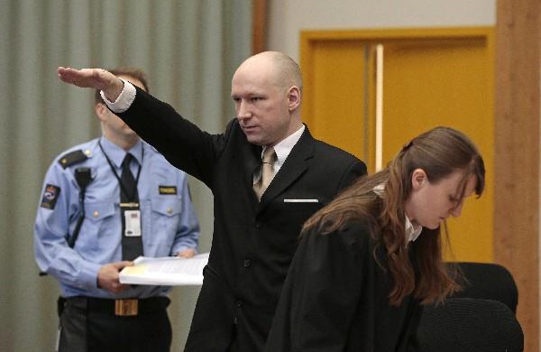 Behring Breivik, militante de ultraderecha asesinó a 77 personas en Noruega en el 2011.