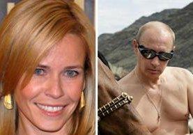 <p>Chelsea Handler y Vladimir Putin.</p>