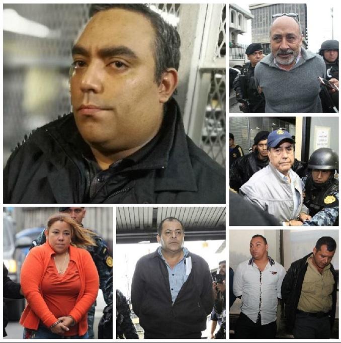 Capturados por un nuevo caso de corrupción, entre ellos Luis Lima, hermano de Byron Lima. (Foto Prensa Libre: Carlos Hernández)