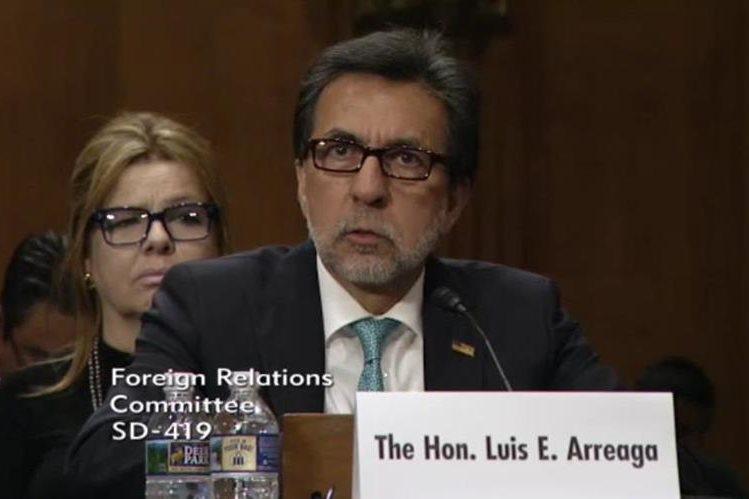 Luis Arreaga dijo que continuará su apoyo a la Cicig, el Ministerio Público y el Gobierno. (Foto Prensa Libre: Embajada EE.UU.)
