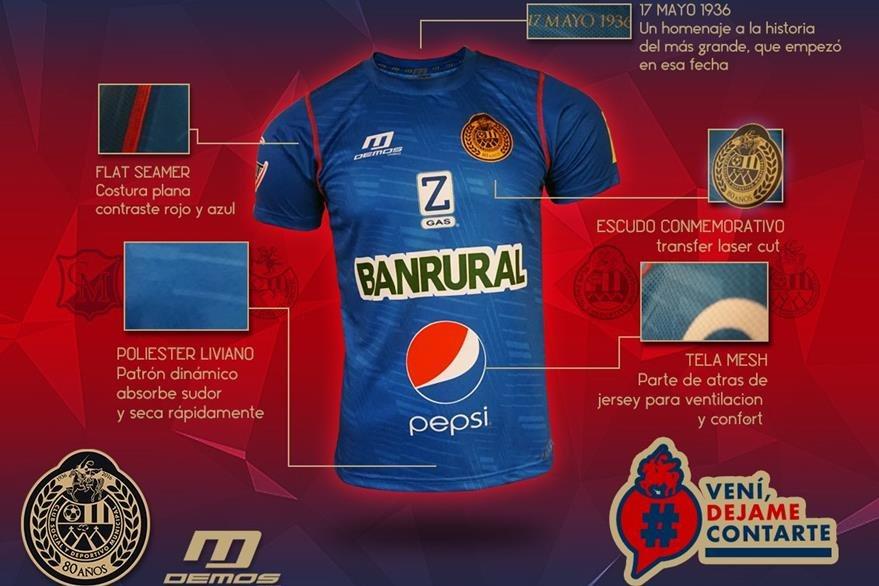 Municipal presenta nueva indumentaria for Los rojos de municipal