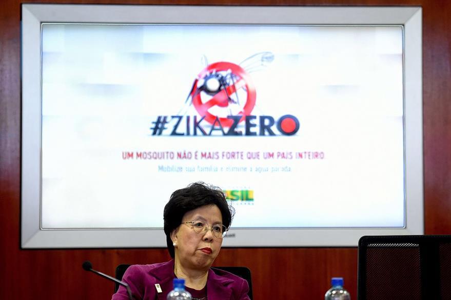 Margaret Chan, de la Organización Mundial de la Salud, durante una conferencia de prensa, donde dijo que tomará tiempo deshacerse del zika. (Foto Prensa Libre: AFP).