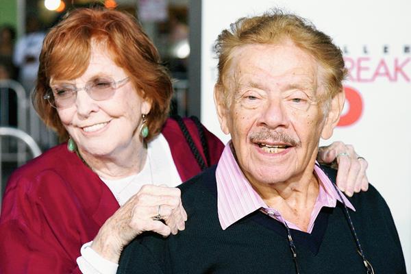 Anne Meara y su esposo husband Jerry Stiller, durante un evento en el 2007.