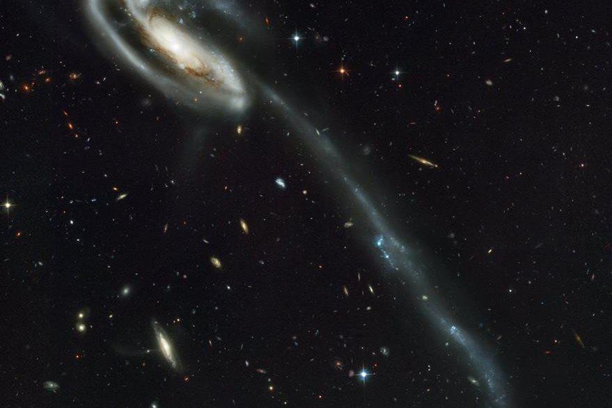 La galaxia UGC captada por el telescopio Hubble de la Nasa.  (Foto Prensa Libre: AP).