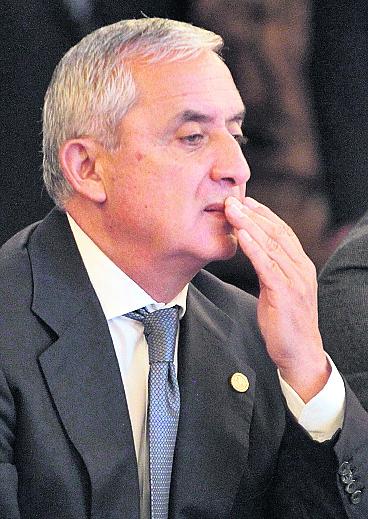 El presidente Otto Pérez Molina mantiene respaldo pese a señalamiento en contra de su gabinete. (Foto Prensa Libre: Hemeroteca PL)