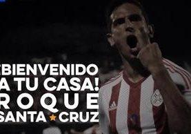 Roque Santa Cruz fue un pilar en el equipo paraguayo, antes de salir con rumbo al Bayern Múnich en 1998. (Foto Prensa Libre: Club Olimpia/Twitter)