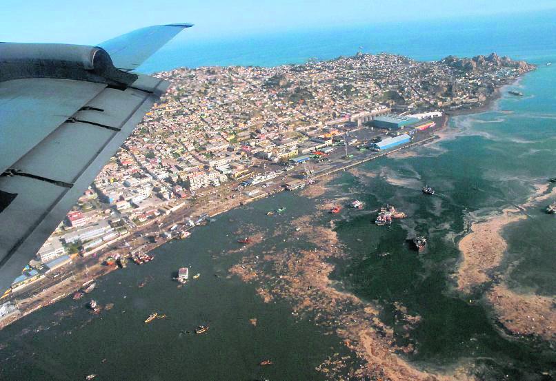 Vista aérea de la localidad de Tongoy, Chile. (Foto Hemeroteca PL).