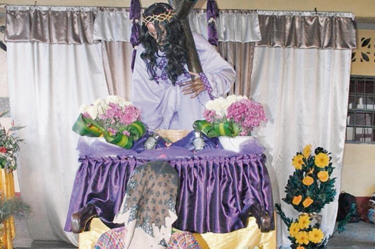 Parroquia de Tecún Umán, San Marcos, donde se venera al Señor de las Tres Caídas.