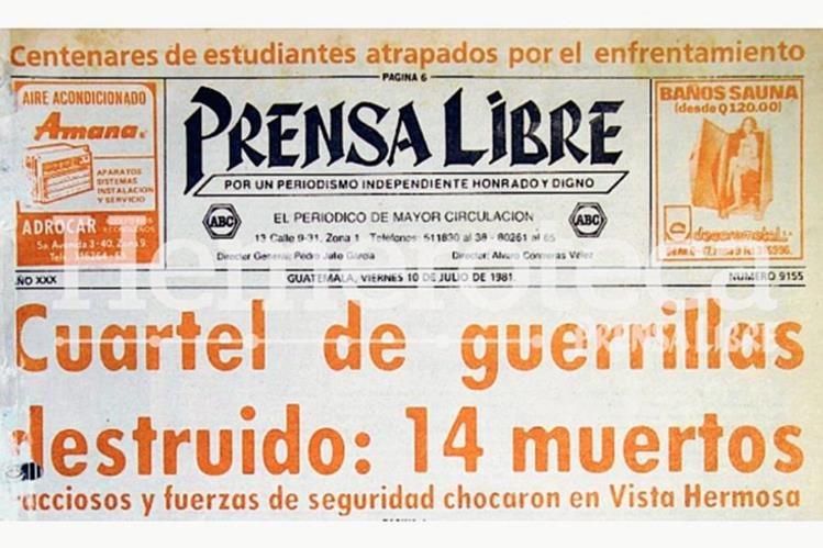 Titular de la portada del 10/07/1981. (Foto: Hemeroteca PL)