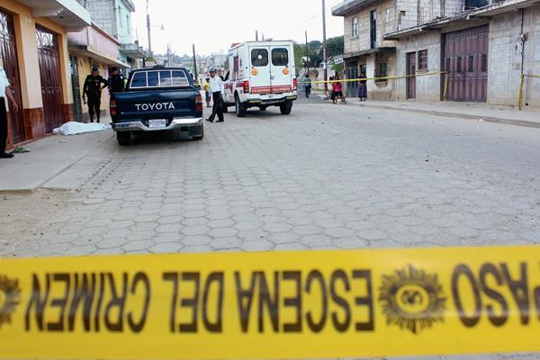 José Pérez Rivas murió baleado, en la zona 3 de Chimaltenango. (Foto Prensa Libre: José Rosales)