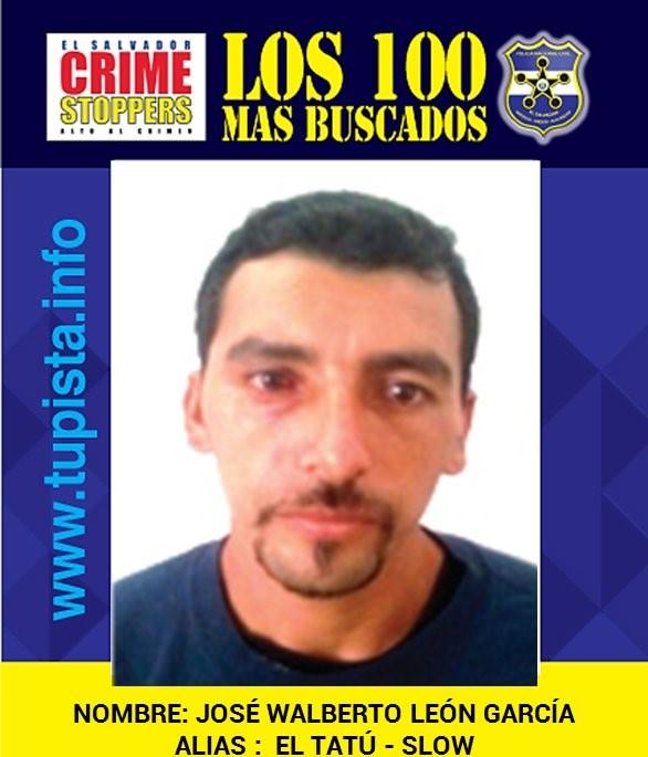 El presunto pandillero salvadoreño José Walberto León García, alias Tatú o Slow, fue capturado este domingo en Honduras. (Foto Prena Libre: PNC El Salvador)