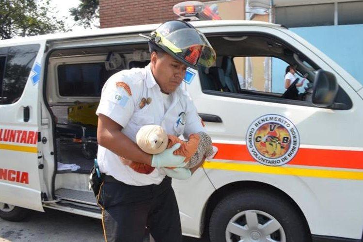 La víctima sobrevivió al ataque armado con una herida de bala en el cráneo. (Foto Prensa Libre: Cortesía CVB)