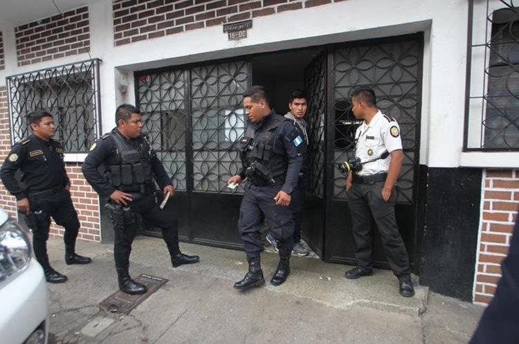 Inmueble donde se realizó el allanamiento en la 16 avenida y 30 calle, zona 5. (Foto Prensa Libre: Érick Ávila)
