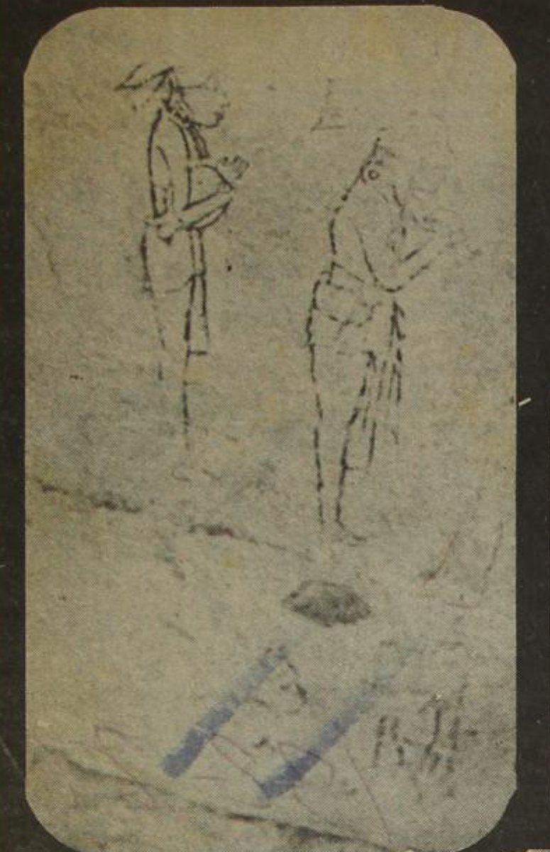 La prodigiosa habilidad maya para representar las figuras humanas con el ejemplo de principios netamente realísticos se pone de manifiesto en estos dos personajes. (Foto: Hemeroteca PL)