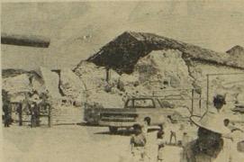 El templo de San Martín Jilotepeque, construido por los dominicos en el siglo XVI, fue reducido a escombros por el terremoto de 1976. (Foto: Hemeroteca PL)