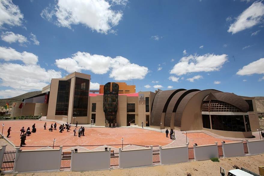 """Vista general del """"Museo de la Revolución Democrática y Cultural - Orinoca"""", que fue inaugurado el jueves último. (Foto Prensa Libre: EFE)."""