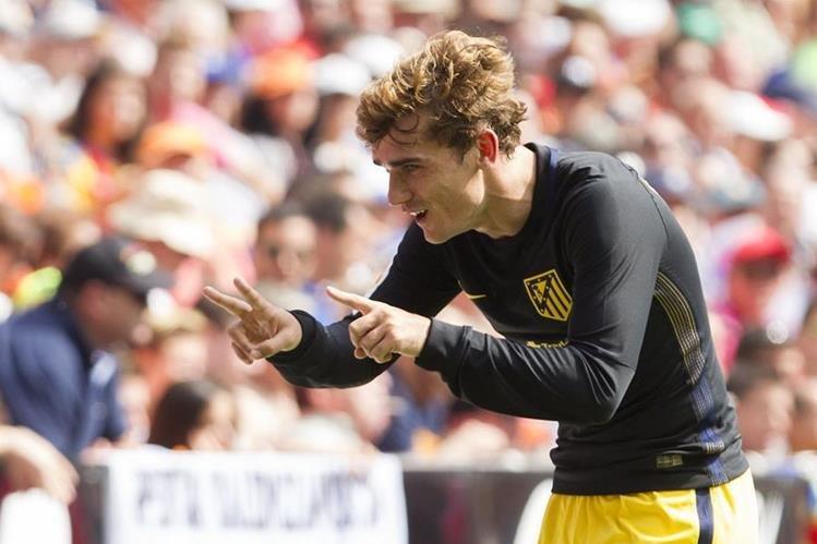 El delantero francés Antoine Griezmann es la carta goleadora del Atlético Madrid (Foto Prensa Libre: Hemeroteca PL)