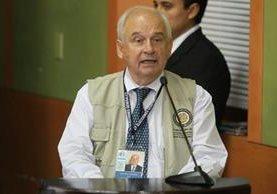 Juan Pablo Corlazoli, jefe de misión electoral de la OEA, solicita que se refuerce la seguridad en los 11 municipios donde se repetirán elecciones. (Foto Prensa Libre: Esbin García)