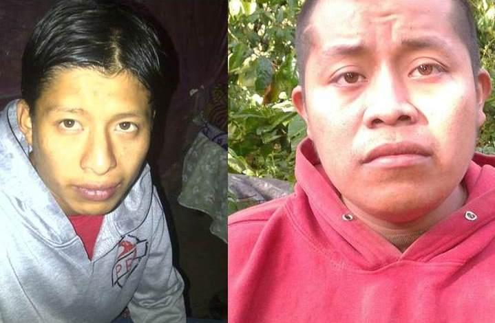 Dos de los capturados en San Pedro Pinula fueron Juan Amílcar Segura y Denis Pérez. (Foto Prensa Libre: PNC)