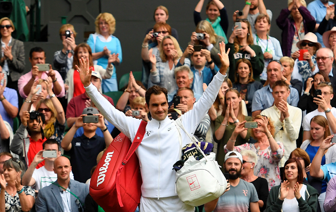 Federer ganó y quedó bien perfilado para alcanzar su 19º Slam — Wimbledon