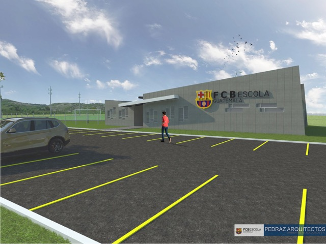 Una panorámica de la escuela del FCBarcelona que se construye en Guatemala. (Foto Prensa Libre: Cortesía FCBEscola)