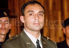 Byron Lima con uniforme militar en 2001, durante el proceso en su contra por la muerte de monseñor Gerardi. (Foto: Hemeroteca PL)
