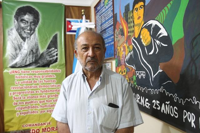 El candidato fue activista social y combatiente guerrillero desde su juventud. (Foto Prensa Libre: Esbin García)