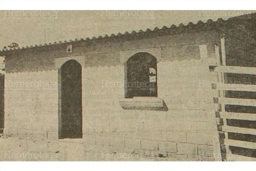 Nueva vivienda en San Juan Sacatepéquez, en 1977, un año después del terremoto. (Foto: Hemeroteca PL)