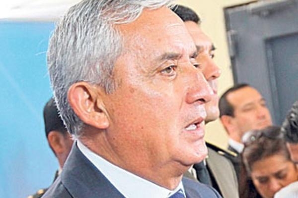 Pérez Molina dice que hay riñas entre pandillas.