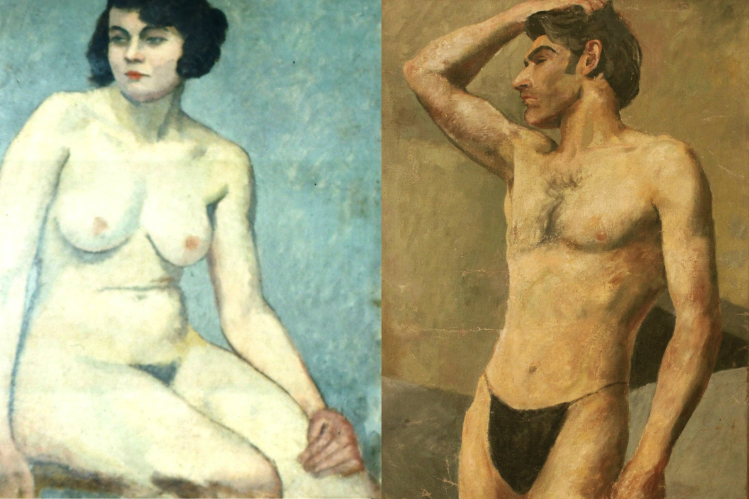 La artista guatemalteca Antonia Matos fue censurada en nuestro país por pintar desnudos. Fotos Prensa Libre: Hemeroteca PL.