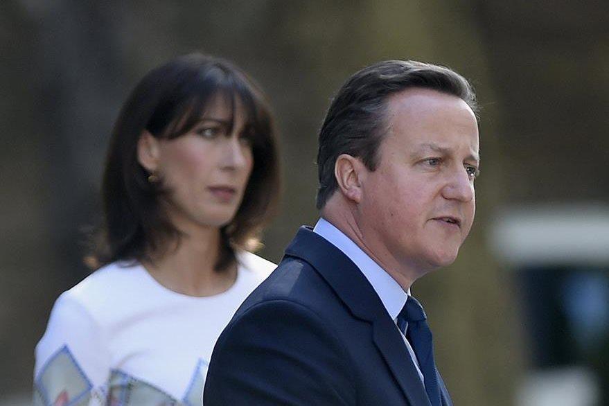 El primer ministro británico, David Cameron, en la conferencia de prensa. (Foto Prensa Libre: AFP).