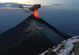 Usuarios captaron la furia del Volcán de Fuego