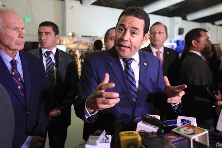 El presidente Jimmy Morales habló de la familia durante una actividad pública. (Foto Prensa Libre: Hemeroteca PL)