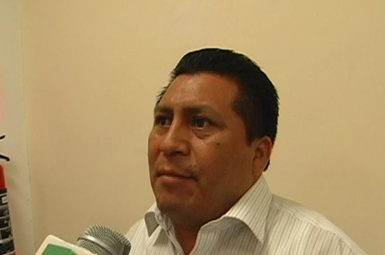Pedro Rolando Us Maldonado, alcalde de Uspantán. (Foto Prensa Libre: Héctor Cordero).
