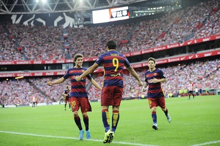 El Barcelona superó con apuros al Athletic este domingo. (Foto Prensa Libre: AP)