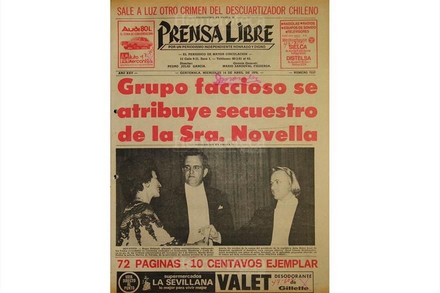 Portada del 14/04/1976 se daba a conocer el plagio  de la señora María Olga Novella Alvarado. (Foto: Hemeroteca PL)