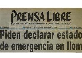 Titular de Prensa Libre del 9/12/1997. (Foto: Hemeroteca PL)