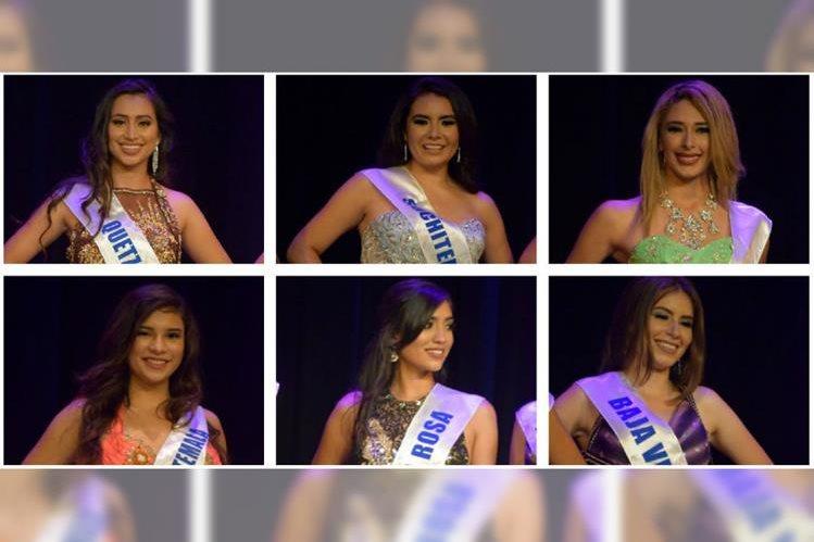Guatemaltecas aspiran a la corona de Miss Guatemala US 2017. (Foto Prensa Libre: Giovanni Bautista)