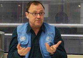 Enrique Valles considera dramática la situación mundial de refugiados. (Foto Prensa Libre: Estuardo Paredes)