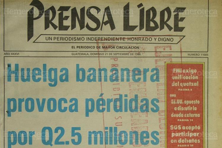 Portada del 21 de septiembre de 1986. (Foto: Hemeroteca PL)