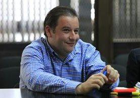 Roberto Barreda, señalado de la desaparición de su esposa, Cristina Siekavizza, en la audiencia de presentación de pruebas. (Foto Prensa Libre: Paulo Raquec)
