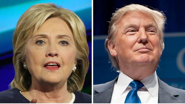 Hillary Clinton y Donald Trump encabezan sondeos para el supermartes. (Foto Prensa Libre: EFE)