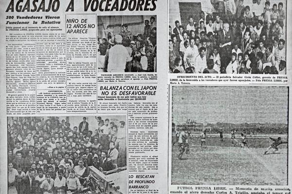 Voceadores de Prensa Libre, en una foto de 1963. (Foto: Hemeroteca PL)