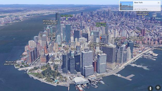 La navegación 3D es otra de las novedades. GOOGLE