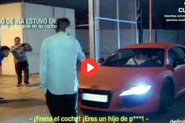 Los aficionados fueron captados por las cámaras de televisión. (Foto Prensa Libre: Canal Cuatro)