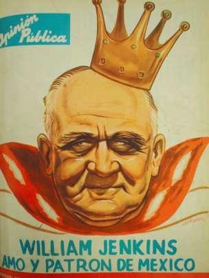 A partir de 1959, los medios mexicanos incrementaron sus ataques contra Jenkins como un capitalista omnipotente y rapaz. CARÁTULA OPINIÓN PÚBLICA