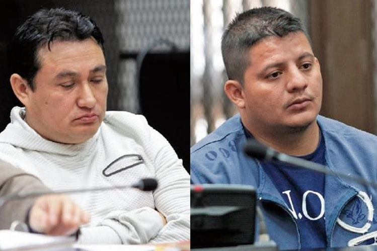 Los sindicados Marco Antonio Paredes Palacios y Marco Tulio Cano Reyna escuchan los señalamientos que el Ministerio Público hace en su contra.